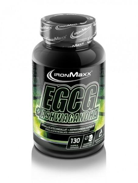 Ironmaxx EGCG + Ashwagandha 130 Kapseln