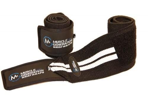 Musclegeneration Handgelenksbandagen schwarz/weiß