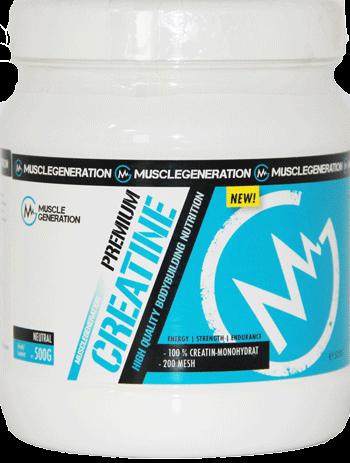 Musclegeneration 100% Creatine Monohydrate 500g neutral