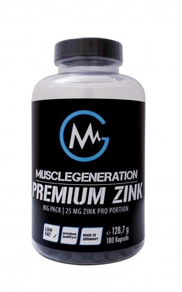 Musclegeneration Premium Zink 180 Kapseln