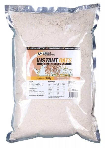 Musclegeneration Instant Oats 100% Complex Carbs 1000g